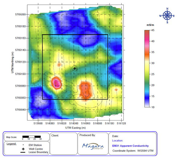 Sample Site Map: Magara Enterprises Ltd. Sample Survey Maps